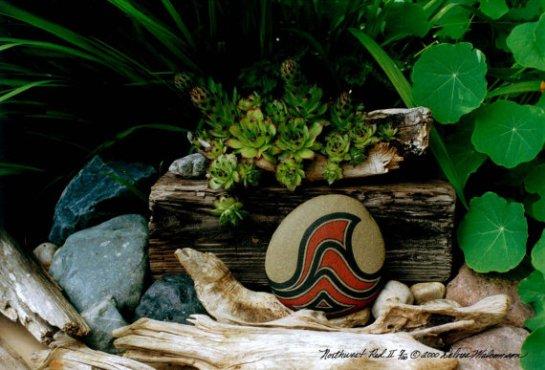 Color Photograph, Unique Still Life Landscape, Rocks, Plants, Driftwood, Limited Edition, Signed