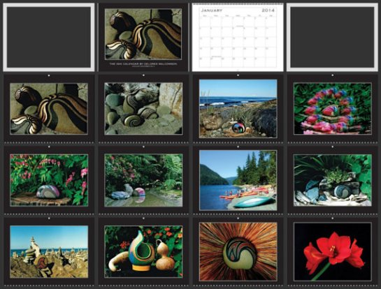 Wall Calendar for 2014 Has 12 Beautiful Unique Photos for Each Month of the Year, Great for Home or Office Decor, Great Gift Idea, 2