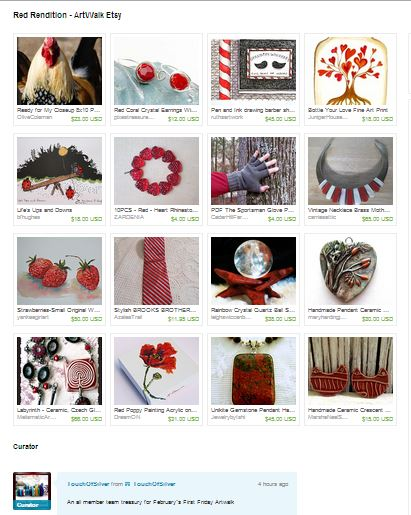 Red Rendition-Artwalk Etsy--a Collection of creations by Aweteam members on Etsy.