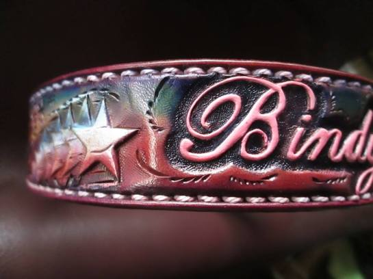 tooled leather dog collar,acrossleather,Leather,Dogs,collars,pet accessories.