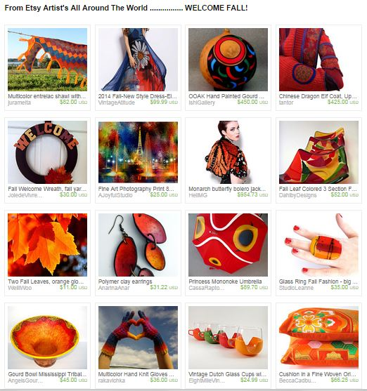 Capture From Etsy's artist all around the world---welcome fall