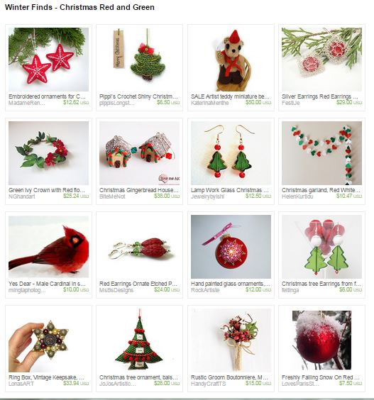 Capture Winter Finds--Christmas Red and Green