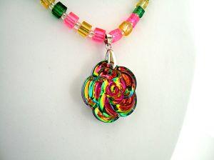 Iridescent Flower glass necklace 2 adjusted ++   DSCF9716