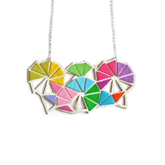 z colorful necklace