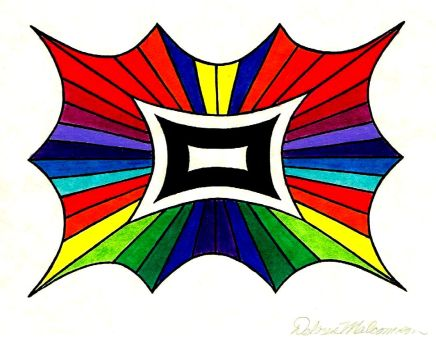 Rainbow butterfly shape note card 001 cropped to size contrasted - Copy
